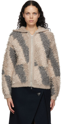 Stella McCartney Beige Alpaca and Wool Looped Stitch Jacket