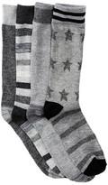 Lucky Brand Stars & Stripes Crew Cut Socks - Pack of 4