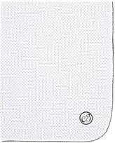 Baby CZ Dot-Print Pima Cotton Blanket-WHITE