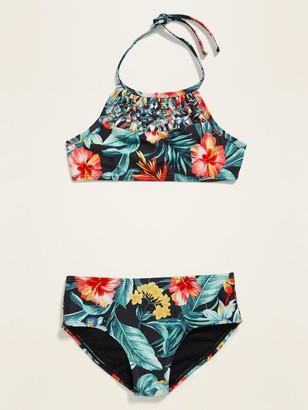 Old Navy Macrame Halter Bikini Swim Set for Girls