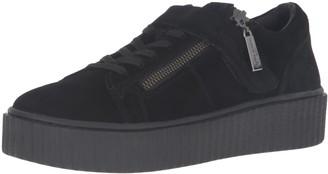 J/Slides Women's Papper Fashion Sneaker Black Suede 6.5 M US
