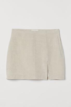 H&M Linen-blend skirt