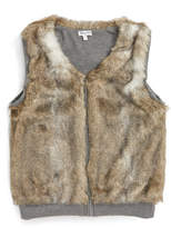 Splendid Reversible Faux Fur Vest (Big Girls)