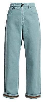 Brunello Cucinelli Women's Relaxed Monili Cuff Jeans