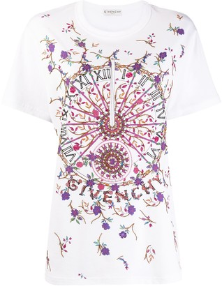 Givenchy masculine fit T-shirt with sundial print