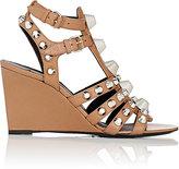 Balenciaga Women's Arena Leather Wedge Gladiator Sandals