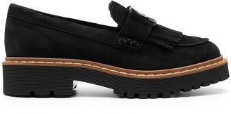 Hogan Buckled Platform Loafers