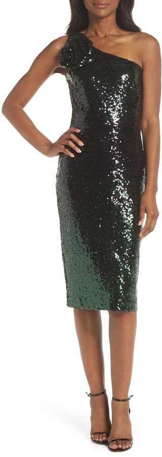 Vince Camuto Sequin One-Shoulder Dress