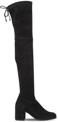 Stuart Weitzman 70mm Tieland Stretch Suede Boots