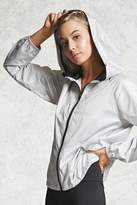 Forever 21 FOREVER 21+ Active Hooded Zip-Up Jacket