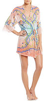 In Bloom by Jonquil Penny Lane Floral Chiffon & Lace Wrap Robe