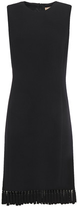 Michael Kors Tassel-trimmed Stretch-wool Crepe Dress