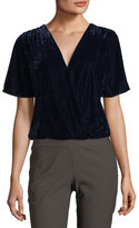 Ella Moss Serene Surplice Short-Sleeve Velvet Top