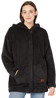 Roxy Light Of The Night Sherpa Jacket (Anthracite) Women's Clothing