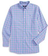 Vineyard Vines Boy's Deep Hollow Check Whale Shirt