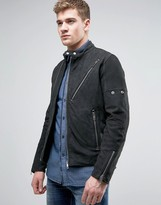 Diesel L-mackson Leather Suede Mix Biker Jacket