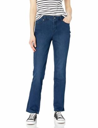 Gloria Vanderbilt Women's Rail Straight Leg High Rise Jean