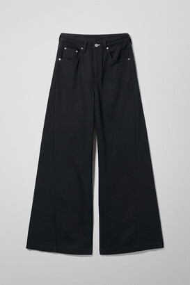 Weekday Beat High Wide Jeans - Black