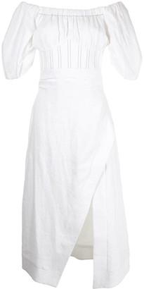 Rachel Gilbert Capri off-shoulder dress