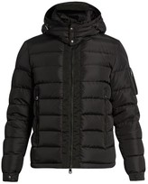 Moncler Danube Detachable-hood Quilted-down Coat