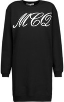 McQ by Alexander McQueen Printed Coated Cotton Mini Dress