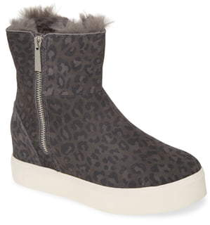 J/Slides Wow Faux Fur Lined Sneaker Boot
