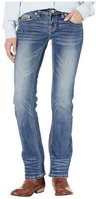 Rock and Roll Cowgirl Rival Straight in Medium Vintage W6T9204 (Medium Vintage) Women's Jeans