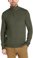 Nautica Men's Long Sleeve Solid Quarter Zip Knit Sweater