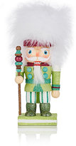 "Kurt S Adler Xmas ""Chubby"" Glittering Wood Nutcracker-GREEN, NO COLOR"