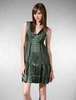 V-Neck Studded Boho Dress in Green