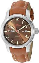 Fortis Men's 655.10.18 L.08 Aeromaster Dawn Analog Display Automatic Self Wind Brown Watch