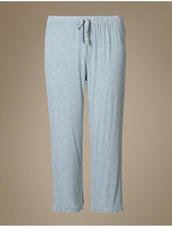 M&S Collection Frill Cropped Pyjama Bottoms