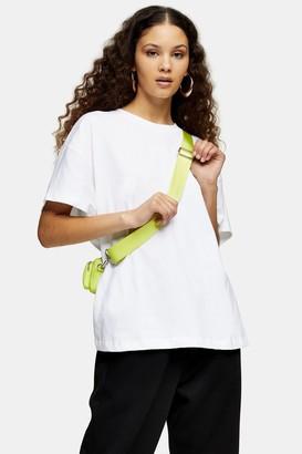 Topshop Womens White Premium Boxy T-Shirt - White