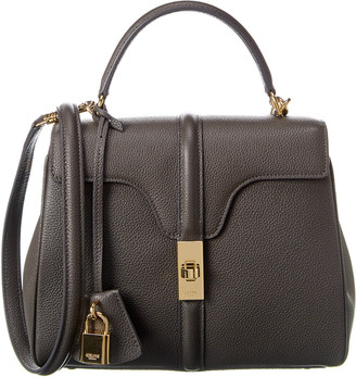Celine Small 16 Leather Satchel