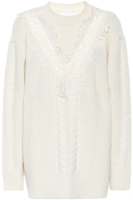 See by Chloe Embroidered wool-blend sweater