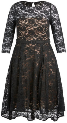 City Chic Lace Lover Dress - Black