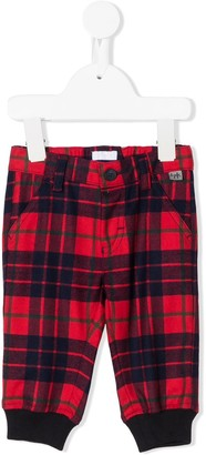 Il Gufo Tartan-Print Elasticated Trousers
