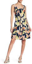 Cacharel Pleated Floral Print Dress