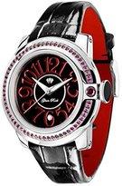 Glam Rock Women's GR32048 SoBe Garnet Accented Black Dial Watch