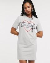 Love Moschino core heart logo t-shirt dress