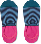Paul Smith Striped Mercerised Cotton-Blend No-Show Socks