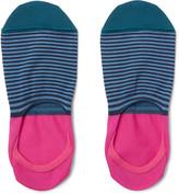 Paul Smith - Striped Mercerised Cotton-blend No-show Socks