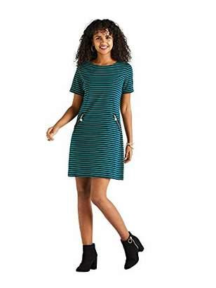 Yumi Stripe Zip Detail Shift Dress