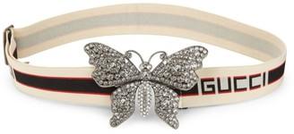 Gucci Pave Butterfly Logo Belt