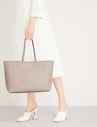 Valentino Rockstud large grained-leather tote bag