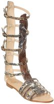 Emanuela Caruso 10mm Printed Leather Gladiator Sandals