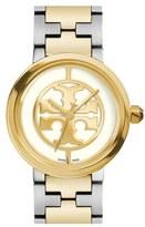 Tory Burch 'Reva' Logo Dial Bracelet Watch, 28mm