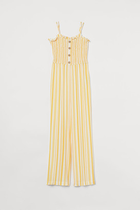 H&M Smocked Jumpsuit - Yellow