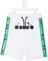 Diadora Junior contrast panel track shorts