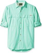 G.H. Bass Men's Explorer Survivor Point Collar Long Sleeve Fishing Shirt